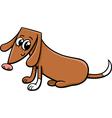 Female dog cartoon vector image