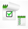 Notepad with check mark vector image vector image