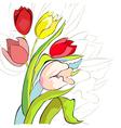 tulips flowers vector image