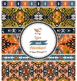 Seamless colorful pattern in tribal style vector image vector image