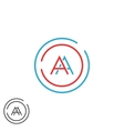 Fusion two letters AA logo monogram modern vector image