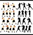 Box silhouette vector image