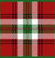 Christmas tartan plaid pattern vector image