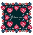 I love you decorative frame vector image