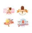 Icecream badge food logo vector image