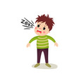 little child gets mad and loudly swears cartoon vector image