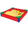 Sandbox wih baby toys vector image
