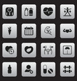 set of 16 editable fitness icons includes symbols vector image