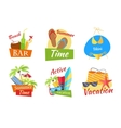 Set of Summer Vacation Conceps vector image