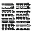 train toy children icons set simple style vector image