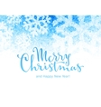 Merry Christmas and Happy New Year Lettering on vector image