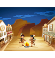Two Indian girls dancing around the fire vector image