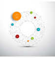 abstract circles infographic network template vector image