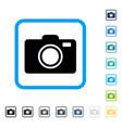 photo camera framed icon vector image