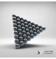 Pyramid of balls 3d vector image vector image