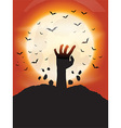 zombie hand background 0910 vector image vector image