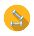 Two dumbbells flat icon vector image
