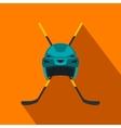 Two crossed hockey sticks icon vector image