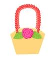 Basket icon cartoon style vector image