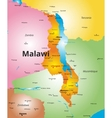 color map of Malawi country vector image