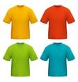 color tshirt vector image