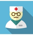 Doctor flat icon vector image
