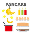pancake cooking ingredients constructor vector image