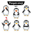 set of cute penguin characters set 1 vector image
