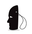 silhouette of a mask on a string vector image