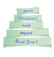 Sticker Christmas tree vector image