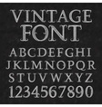 Vintage patterned letters and numbers Font in vector image