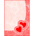 Valentin Day card with heart vector image vector image