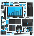 businessman essentials office workflow equipment vector image