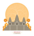 angkor wat siem reap cambodia with decoration vector image