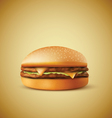 Realistic burger vector image