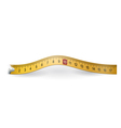 Yellow measuring tape vector image