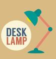 Modern Design Desk Lamp vector image