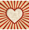 retro background with a heart frame vector image