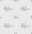 Cardiogram monitoring sign icon Heart beats symbol vector image