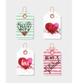 Set of four hand drawn gift tags vector image