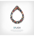 splash people symbol vector image