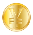 Coin with sign JPY vector image