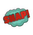 comic boom snap icon flat style vector image
