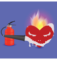 extinguisher and heart vector image