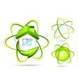 green atomic s vector image