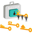 Key Success vector image