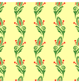 seamless pattern with floral ornament vector image