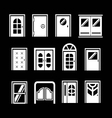 Set icons of doors vector image