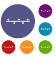 timeline infographic icons set vector image