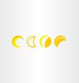 half moon icon set symbol vector image